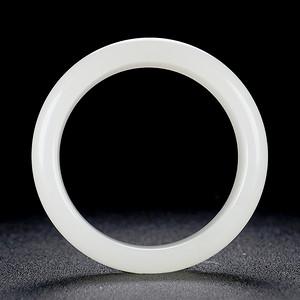 和田玉镯子天然一级白玉手镯女款玉镯玉石内径54mm