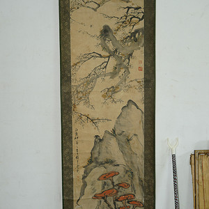 海外回流保真的晚清画家的梅花 2.3米长