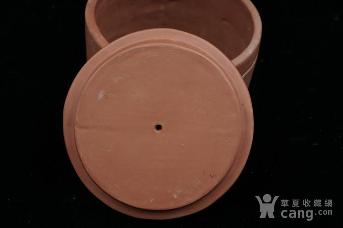 回流的  183 文革紫砂器书画合盖罐 有制款章印记 图6