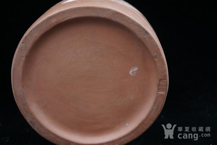 回流的  183 文革紫砂器书画合盖罐 有制款章印记 图7