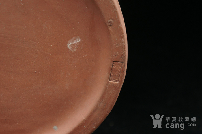回流的  183 文革紫砂器书画合盖罐 有制款章印记 图8