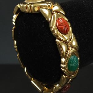 鎏金镶嵌天然宝石 日本机心手表
