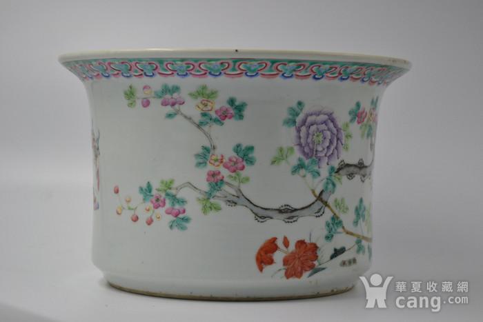 清光绪粉彩花盆图5