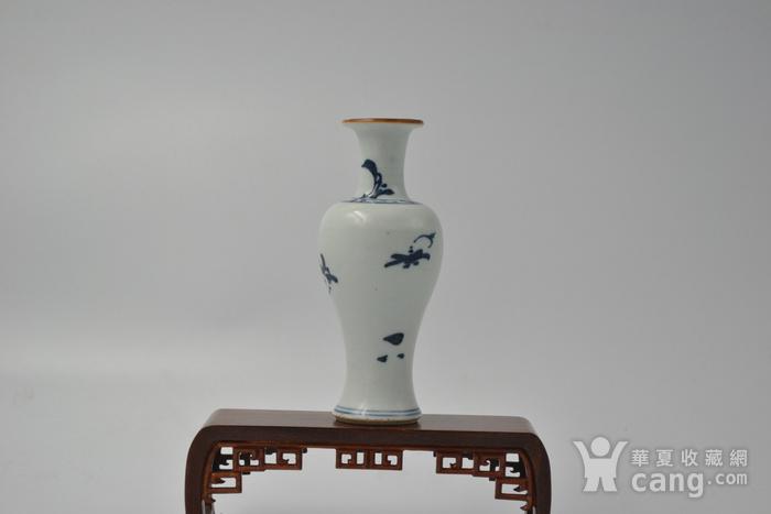 清顺治兰花观音瓶图7