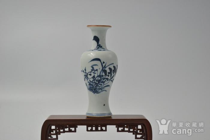 清顺治兰花观音瓶图1