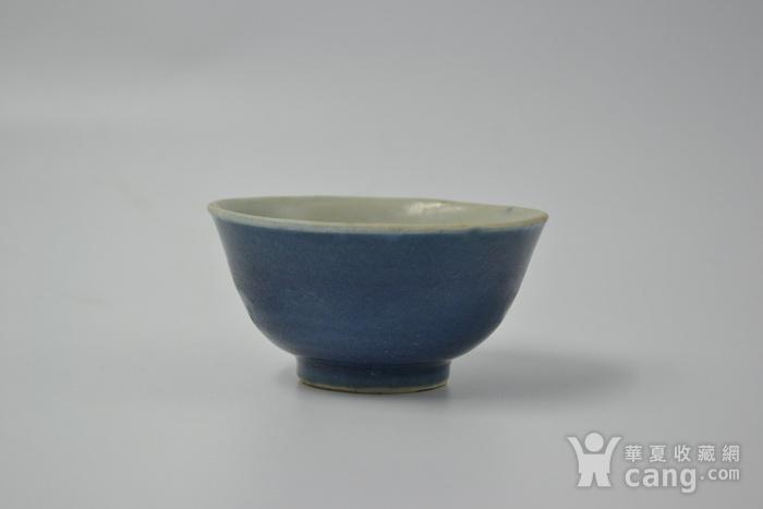 清雍正单色釉小碗图1