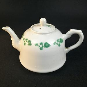 联盟 民国 绿釉花卉纹手工茶壶