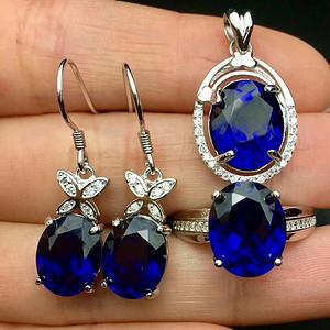 天然蓝宝石套装