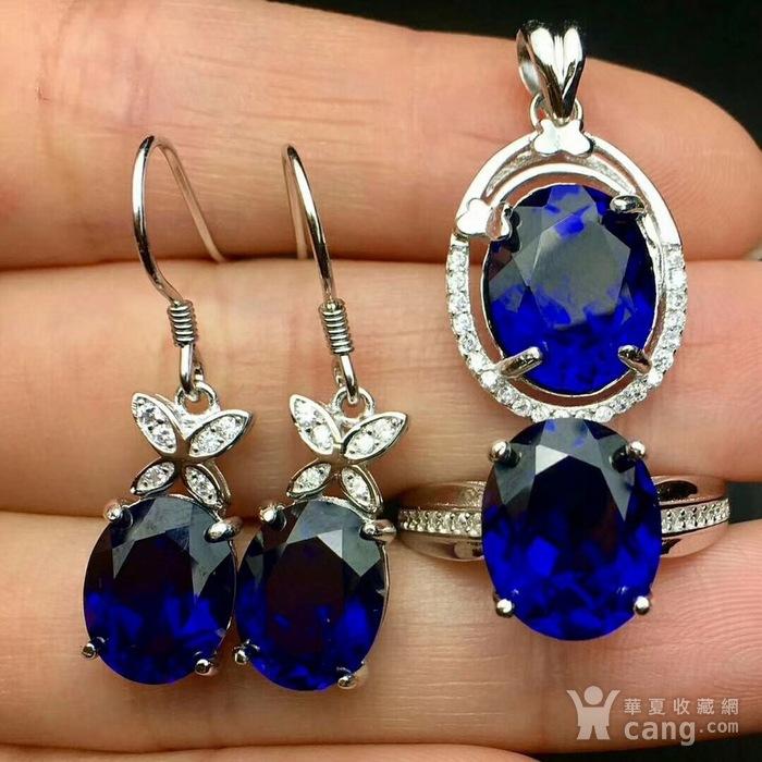 天然蓝宝石套装图1