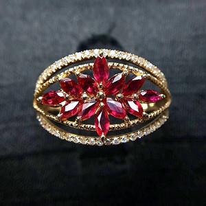天然红宝石戒指假一赔万