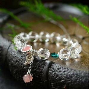 天然白水晶手链