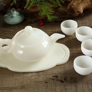 天然和田白玉茶具