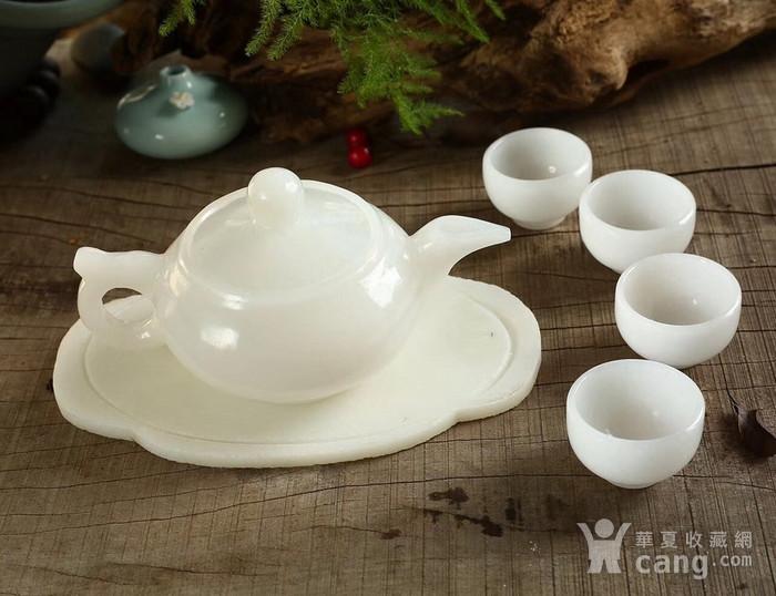 天然和田白玉茶具图1