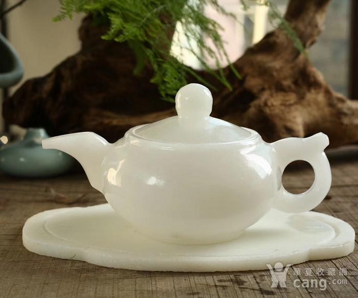 天然和田白玉茶具图5