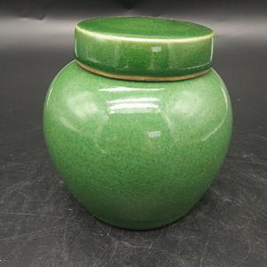 绿釉茶叶罐