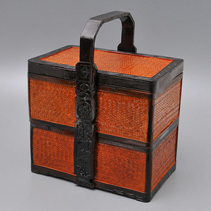 联盟 民国精美竹漆食盒