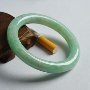 苹果绿翡翠圆条手镯 56mm  17JL02