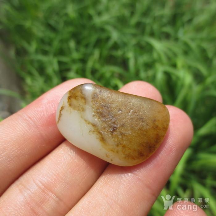 和田玉鹿皮白玉籽料8.6g图2
