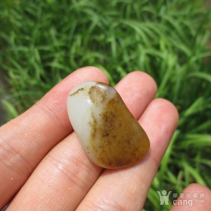 和田玉鹿皮白玉籽料8.6g图4