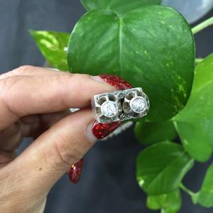 8085欧洲老银嵌宝石戒指
