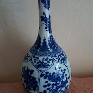 联盟 清晚:青花花卉长颈瓶