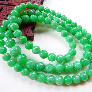 联盟天然A货好种满绿色项链