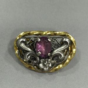 8098欧洲工艺嵌紫水晶胸针