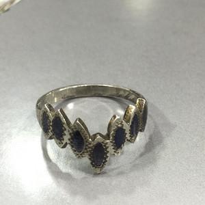 8103欧洲老银珐琅戒指