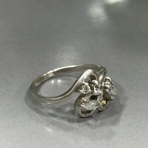 8105欧洲老银嵌水晶戒指