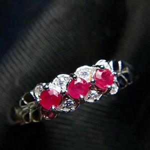 纯天然红宝石戒指