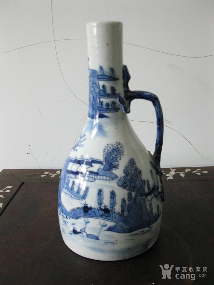 青花山水蟠龙摇铃瓶图11