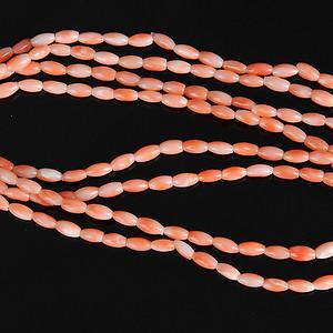 欧美回流 漂亮天然 孩儿面 珊瑚双链项链