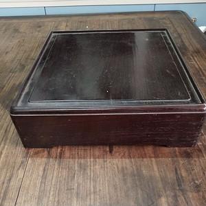 一套非常漂亮红木盒瓷盘