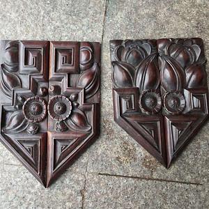 2对精美红木雕刻板