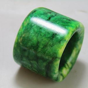 老坑翡翠 满绿扳指 包浆醇厚