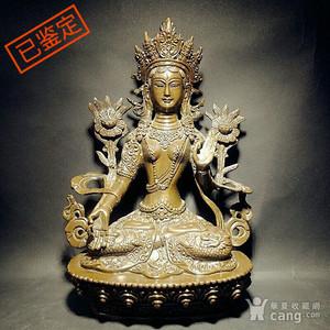 白度母佛像铜像
