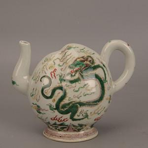 欧洲回流龙纹茶壶