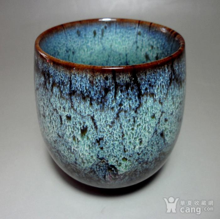 漂亮德化瓷窑变釉浅蓝色茶杯 品茗杯!图6