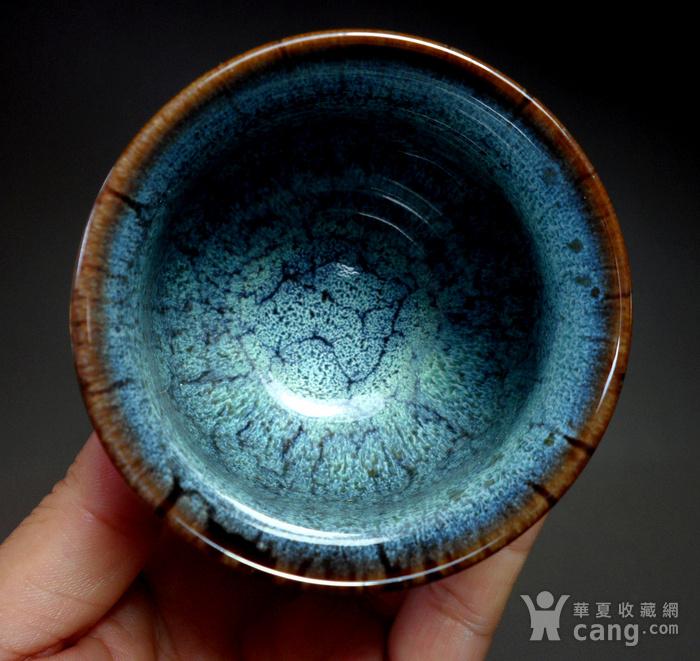 漂亮德化瓷窑变釉浅蓝色茶杯 品茗杯!图11