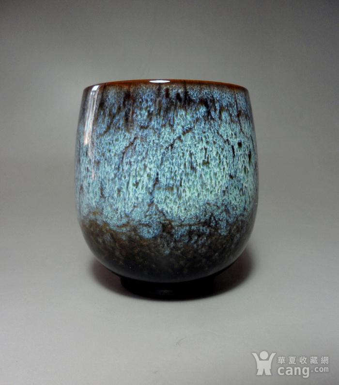 漂亮德化瓷窑变釉浅蓝色茶杯 品茗杯!图5
