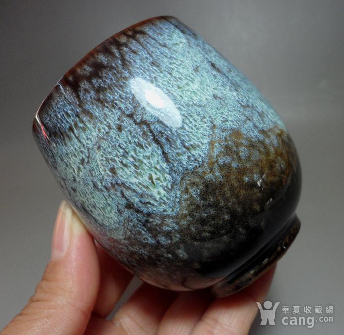 漂亮德化瓷窑变釉浅蓝色茶杯 品茗杯!图2