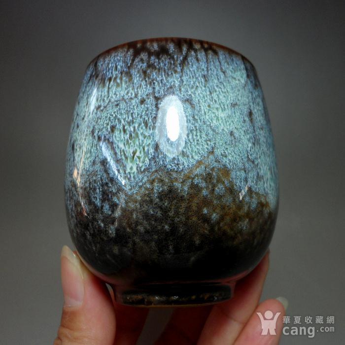 漂亮德化瓷窑变釉浅蓝色茶杯 品茗杯!图3
