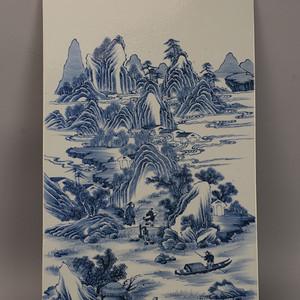 欧洲回流山水人物瓷板