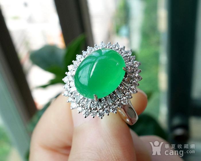 竞猜:18k金豪华拌钻镶嵌满绿翡翠戒指送证书图1-在线竞猜-图片|图库|价格