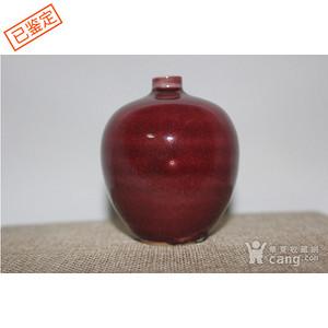 乾隆祭红小罐