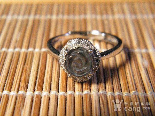 极品碧玺925银戒指2图2