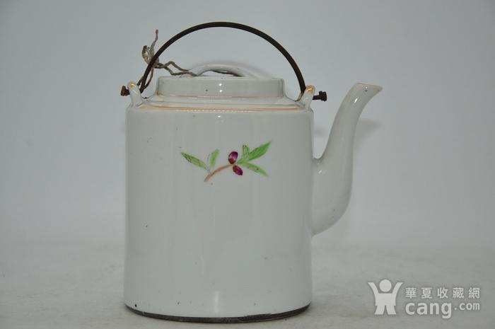 景德镇粉彩老茶壶图2