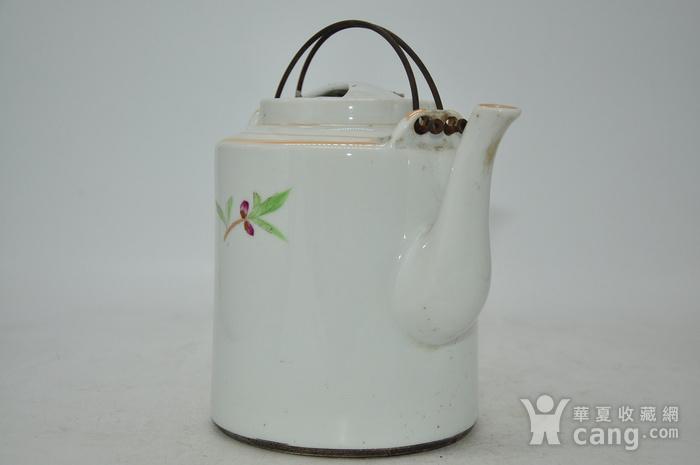 景德镇粉彩老茶壶图4