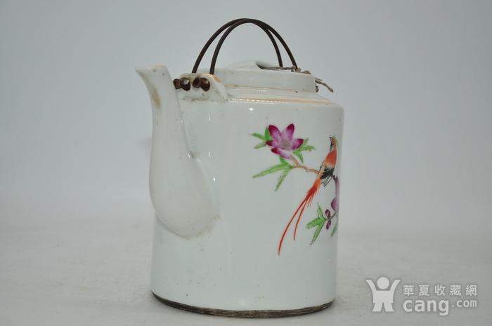 景德镇粉彩老茶壶图3