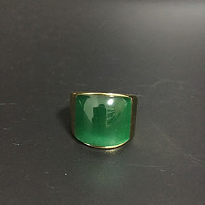 欧洲回流 18k金镶嵌宝石戒指